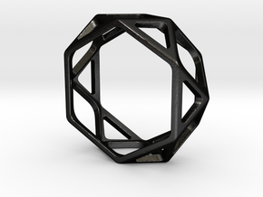 Structural Ring size 10,5 in Matte Black Steel