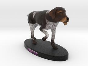 Custom Dog Figurine - Jasper in Full Color Sandstone