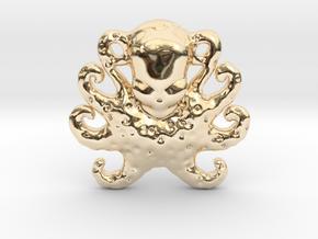 Octopus Pendant in 14K Yellow Gold