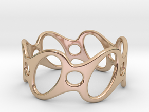 Fantasy Bracelet 65 in 14k Rose Gold Plated Brass