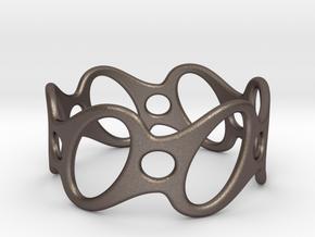 Fantasy Bracelet 65 in Polished Bronzed Silver Steel