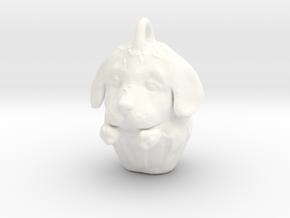 Golden Retriever Pupcake in White Processed Versatile Plastic