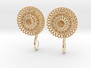 Plugs / gauges/ The Sunflowers 4 g (5 mm) in 14K Yellow Gold