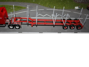 000099 USA Wood Looger Trailer HO 1:87 in White Strong & Flexible