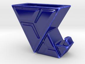 Elfenstiefel-Vase II in Gloss Cobalt Blue Porcelain