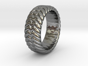 W RING 1 SIZE 10.5 in Fine Detail Polished Silver