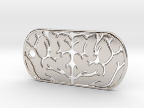 Premium Brain Matter Dog Tag in Platinum