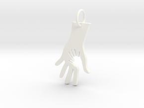 Helping Hand in White Processed Versatile Plastic