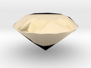 Diamond (Hollow) in 14K Gold