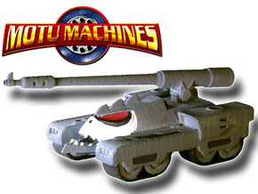 MOTU Machines Series - Destructo Tank V.2 in White Processed Versatile Plastic