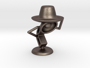 "Lala , ""Am i looking good in hat?"" - Desktoys in Polished Bronzed Silver Steel"