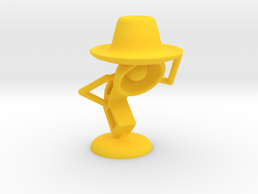 "Lala , ""Am i looking good in hat?"" - Desktoys in Yellow Strong & Flexible Polished"