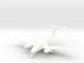 Beechcraft King Air 200 aircraft in 1/96 in White Processed Versatile Plastic