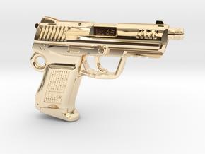 SPM-A001-Hk45-02 Heckler & Koch 45C Keychain in 14K Yellow Gold
