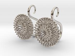 Plugs / gauges/ The Sunflowers 8g ( 3.2 mm) in Platinum