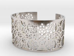 Bracelet Fatehpur Sikri India - Silver L (187mm) in Rhodium Plated Brass