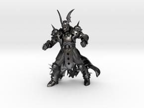 WhiteSkull in Polished and Bronzed Black Steel