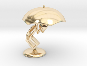 Lele with Umberlla - DeskToys in 14K Yellow Gold