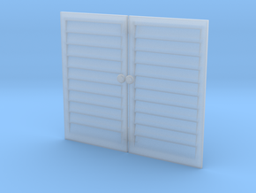 1-24 Louvre Doors in Smooth Fine Detail Plastic