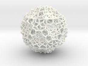 30 Cube Compound, open, small in White Processed Versatile Plastic