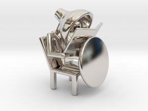 Lala - Reading book - DeskToys in Rhodium Plated Brass