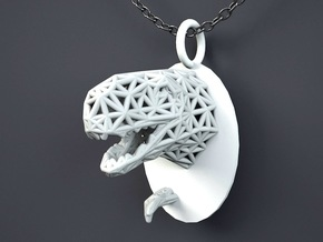 T-rex pendant in White Strong & Flexible Polished
