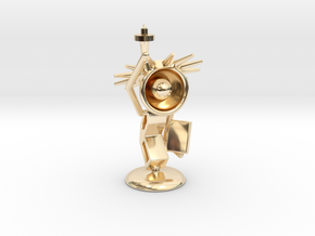 Lala - State of liberty - DeskToys in 14k Gold Plated Brass