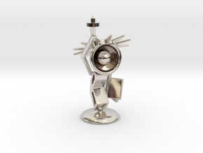 Lala - State of liberty - DeskToys in Rhodium Plated Brass