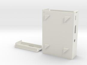 Raspberry Pi 2 / Raspberry Pi B+  Cluster Case Rev in White Natural Versatile Plastic