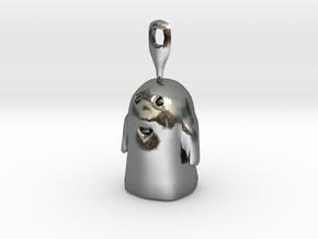 Boo Eearing in Polished Silver