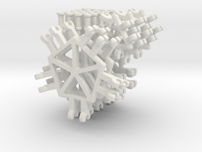 Polyhedron Builder - Basic Pack in White Natural Versatile Plastic