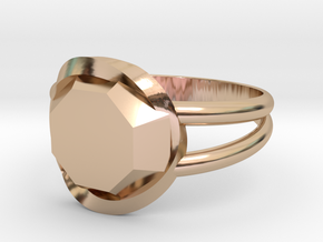 Size 8 Diamond Ring in 14k Rose Gold Plated Brass