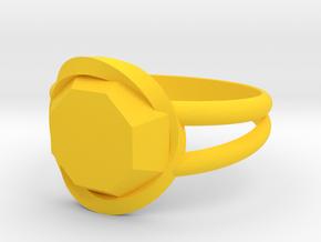 Size 9 Diamond Ring in Yellow Processed Versatile Plastic