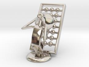 Lala - Playing abacus - DeskToys in Platinum