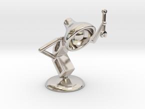 "Lala as ""Mechanic"" - DeskToys in Rhodium Plated Brass"