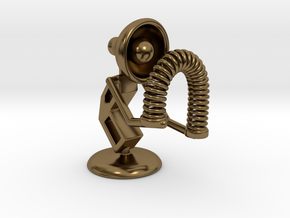 """Lala - Playing with """"Spring coil toy"""" - DeskToys in Polished Bronze"""