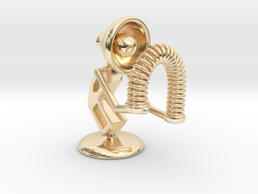 "Lala - Playing with ""Spring coil toy"" - DeskToys in 14k Gold Plated Brass"