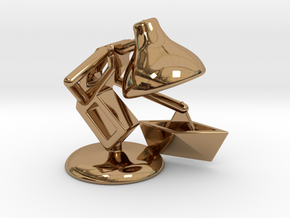 """JuJu - """"Playing with paper boat"""" - DeskToys in Polished Brass"""