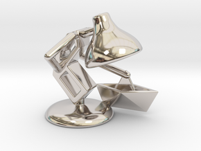 "JuJu - ""Playing with paper boat"" - DeskToys in Rhodium Plated Brass"