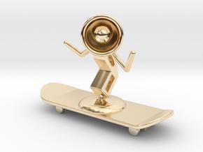Lala - Skating - DeskToys in 14K Yellow Gold