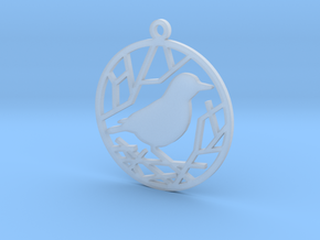 Christmas tree ornament - Bird in Smooth Fine Detail Plastic