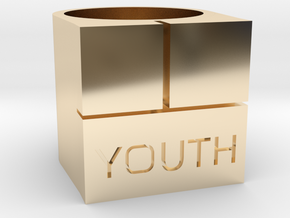 Youth Box Ring - Sz. 9 in 14K Gold
