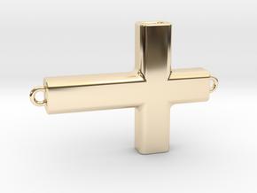 Horizontal Cross in 14K Yellow Gold