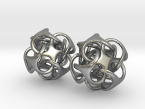 Metatron 12mm Pair - For silver earrings in Natural Silver