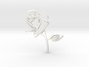 Rose2b in White Processed Versatile Plastic