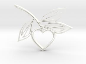 Heart1b in White Processed Versatile Plastic