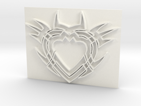 Heart2a in White Processed Versatile Plastic