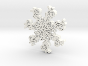 Snowflake2b in White Strong & Flexible Polished