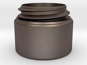 Dalek Gun-stick (pommel bottom, #dg006) in Polished Bronzed Silver Steel