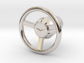 Shooter Rod Knob - v3 Cadillac Steering Wheel in Rhodium Plated Brass
